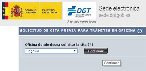 Cita Previa Tráfico Segovia