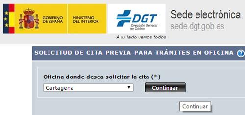 Cita Previa Tráfico Jefatura de Tráfico de Cartagena